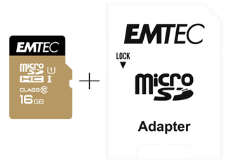 Carte micro SD MSD 16GB SNAPFISH Emtec