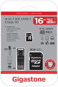 Carte micro SD KIT 4en1 16GB NEW Gigastone