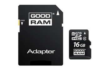 Carte micro SD MSD 16GB+ADAPT Goodram