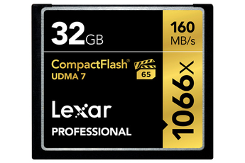 Carte mémoire COMPACT FLASH 32 GO UDMA 7 Lexar