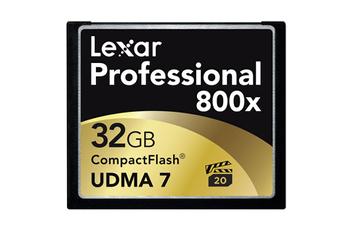 Carte mémoire Compact Flash 32Go 800X 120MO Lexar