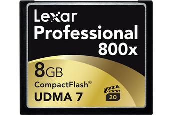 Carte mémoire CF800X 8 GO Lexar