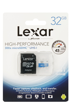 Carte mémoire HIGH PERFORMANCE MICRO SDHC 32 GO Lexar