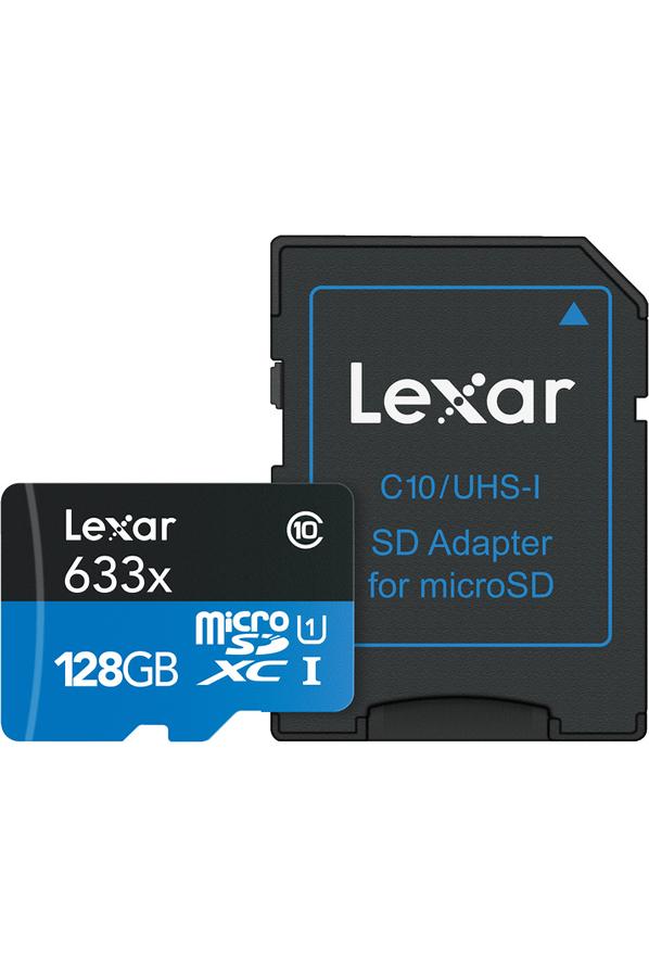 Carte micro sd lexar msd633x 128gb new 4266102 darty - Carte sd darty ...