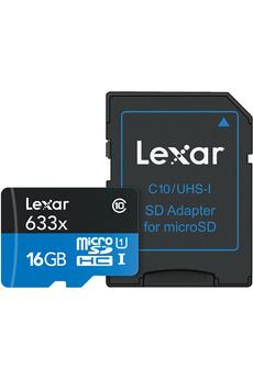 Carte micro SD MSD 633X 16GB NEW Lexar