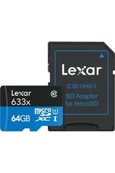 Carte micro SD MSD 633X 64GB NEW Lexar