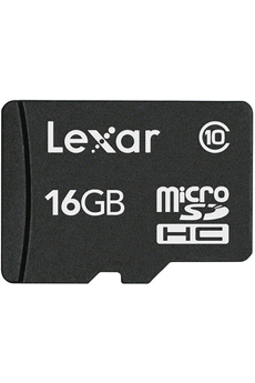 Carte mémoire MICRO SDHC 16 GO Lexar