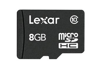 Carte mémoire Micro SDHC 8Go Class 10 Lexar