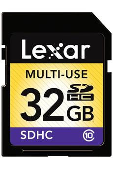 Carte mémoire SDHC 32 GO CLASS 10 Lexar