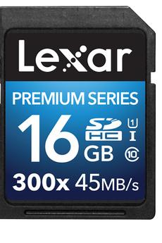 Carte mémoire SD 300X 16GB Lexar