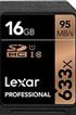 Carte mémoire SD 633X NEW 16GO Lexar