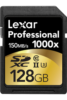 Carte mémoire SDHC 1000X 128GB CL10 Lexar