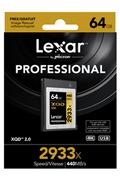 Carte XQD Lexar XQD 64GO 2933X