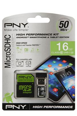 Carte mémoire MICRO SDHC 16 Go Pny