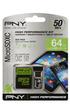 Carte mémoire MICRO SDXC 64 Go KIT Pny