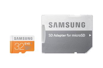 Carte mémoire EVO SDXC 32GO+ADAPT Samsung