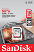 Sandisk SDHC ULTRA CLASS 10 - 16GO photo 3