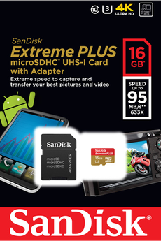 Carte mémoire MSD 16GB EXT PLUS V2 Sandisk