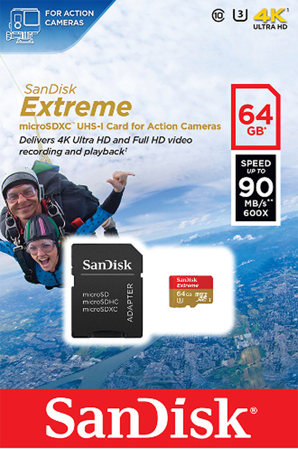 carte micro sd sandisk extreme micro sdxc 64 go cle usb 4148169 darty. Black Bedroom Furniture Sets. Home Design Ideas