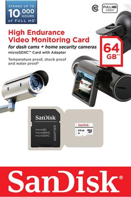 Carte mémoire MSD ENDURANCE 64 GO Sandisk