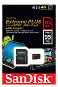 Carte micro SD Sandisk MSD EXT PLUS 128GB
