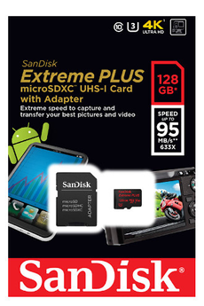 Carte micro SD MSD EXT PLUS 128GB Sandisk