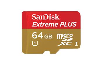Carte mémoire Micro SDXC Extreme Plus 64Go Sandisk