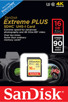 Carte mémoire SD 16G EXTREME PLUS V2 Sandisk