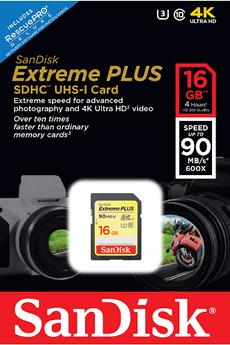 Carte mémoire SD Sandisk SD 16G EXTREME PLUS V2