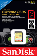 Carte mémoire Sandisk SD 32G EXTREME PLUS V2