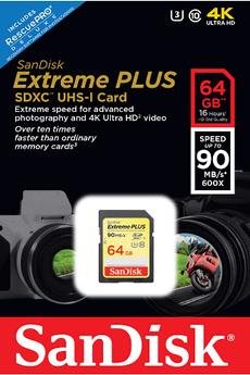 Carte mémoire SD 64GO EXTREME PLUS V2 Sandisk