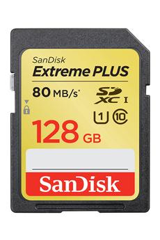 Carte mémoire SDXC Extreme Plus 128Go Sandisk