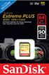 Carte mémoire SD 64G EXTREME PLUS Sandisk
