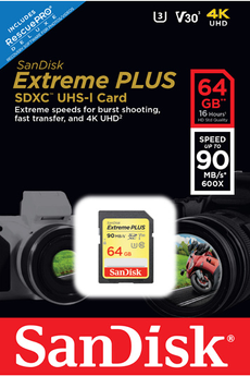 Carte SD SD 64G EXTREME PLUS Sandisk