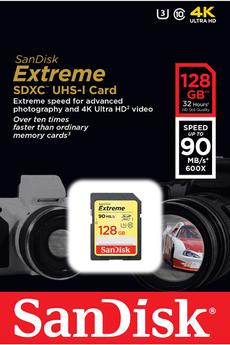 Carte mémoire EXTREME SDXC 128 Go Sandisk