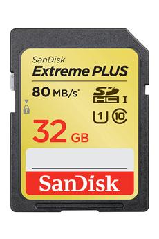 Carte mémoire SDXC 32 GO - CLASS 10 Sandisk
