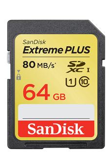 Carte mémoire SDXC 64 GO - CLASS 10 Sandisk