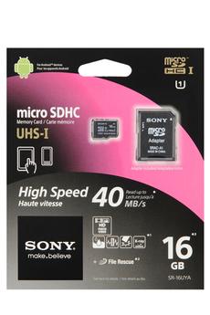 Carte mémoire MICRO SDHC 16GO UHS1 SD ADAPTATEUR Sony