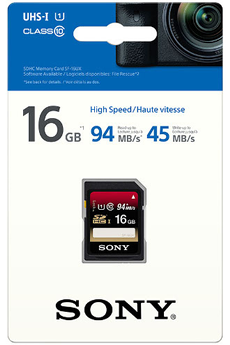 Carte SD SD CARD 16 Go Sony