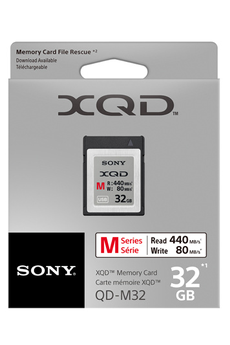 Carte mémoire XQD 32GB SERIE M Sony