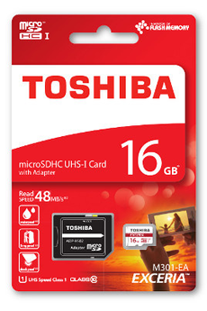 Carte mémoire Carte micro SD M301 16GB Toshiba