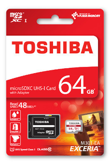Carte mémoire Carte micro SD M301 64GB Toshiba