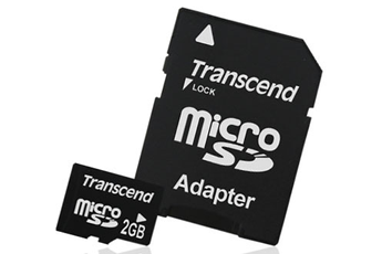 Carte mémoire CARTM MICRO SD 2GO Transcend