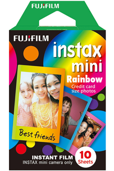 Papier photo instantané FILM INSTAX MINI MONOPACK RAINBOW Fujifilm