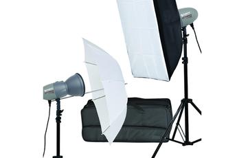 Autre accessoire photo Kit Flash de studio compact 2x200W ABEJA 200 (Parapluie + Boîte à lumière) Starblitz