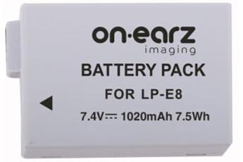 Batterie appareil photo Onearz Imaging LP-E8 pour Canon EOS...