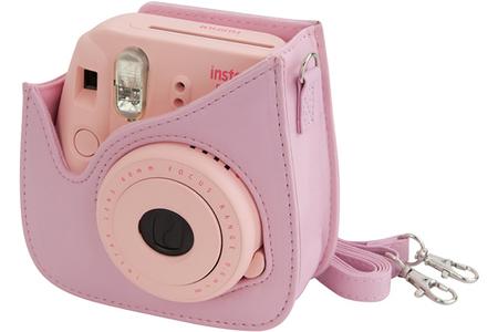 housse pour appareil photo fujifilm housse instax mini 8 rose darty. Black Bedroom Furniture Sets. Home Design Ideas