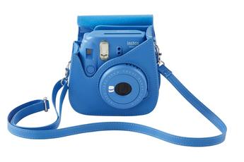 Sac, housse, étui photo - vidéo Fuji Housse de protection bleu cobalt pour Instax Mini 9