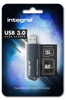 Lecteur carte mémoire USB 3.0 lecteur de cartes Integral