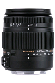 Objectif photo 18-250mm F3.5-6.3 DC MACRO OS Canon Sigma